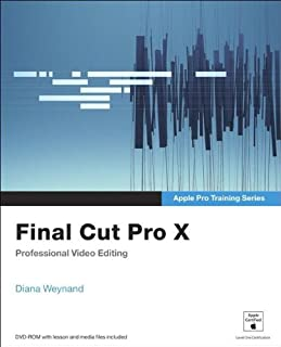 final cut pro x 10 4 apple pro training series professional post rh amazon co uk Italian Cut Green Beans Italian Cut Suit