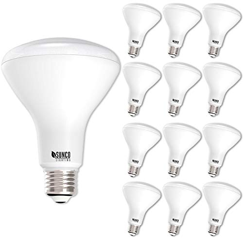Sunco Lighting 12 Pack BR30 LED Light Bulb 11 Watt (65 Equivalent) Flood Dimmable 4000K Kelvin Cool White 850 Lumens Indoor/Outdoor 25000 Hrs for Use in Home Office and More, UL & Energy Star Listed