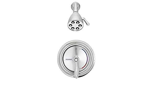 Speakman Sm 3010 Is 2 Sentinel Mark Ii Pressure Balanced Shower Combination With Integral Stops Polished Chrome