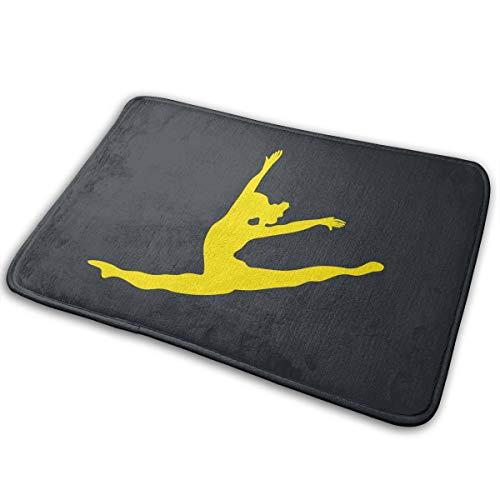 LNUO-2 Indoor Outdoor Door Mat Dancer Leap Silhouette Rug Floor Mats for Pets, Shoe -