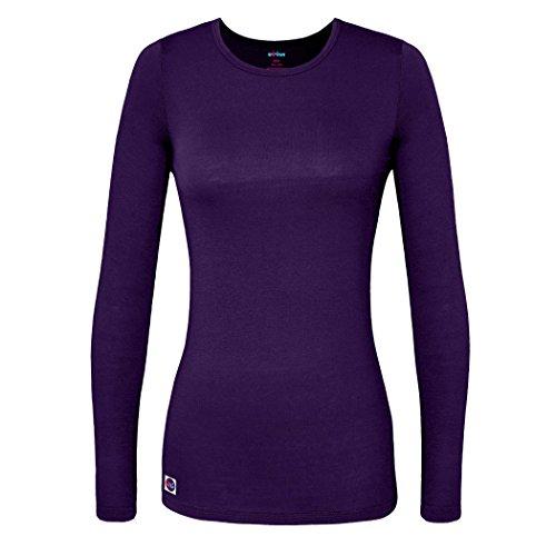 (Sivvan Women's Comfort Long Sleeve T-Shirt / Underscrub Tee - S8500 - Purple - 3X)
