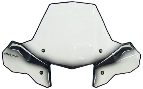 PowerMadd 24570 ProTEK Windshield for ATV  - Standard Mount - Clear with black graphics and headlight cut-out ()