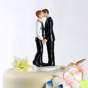 mariage gay couple figurine de gteau de mariage topper - Figurine Mariage Gay