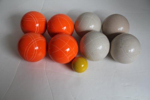 Premium Quality EPCO Tournament Set - 110mm White and Orange Bocce Balls - NO BAG OPTION [Toy] by Epco