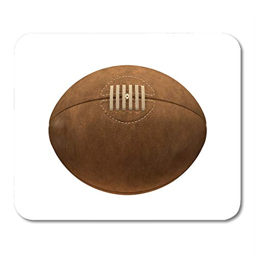 - Emvency Mouse Pads Brown Vintage Old Classic Rugby Ball Laces and Stitching Mouse Pad for notebooks, Desktop Computers mats 9.5