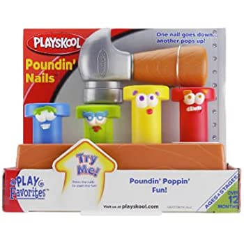 Amazon Com Classic Wooden Pound A Peg Toy Toys Amp Games
