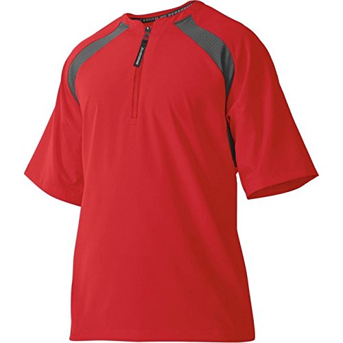 DeMarini Men's Game Day Batting Practice Jacket, Scarlet, - Jacket Game Up Day Warm