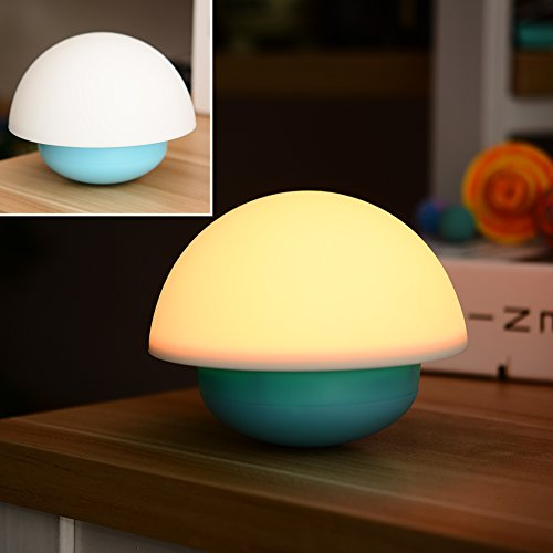 Tumbler Mushroom Touch Sensor Nightlight With 7 Color Changing LED Night Light For Baby