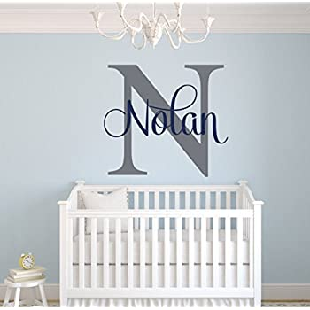 Custom Name Monogram Wall Decal   Nursery Wall Decals   Name Wall Decor Part 16