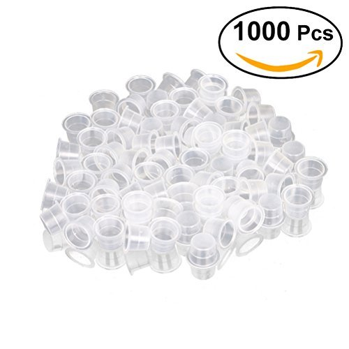 - ROSENICE Tattoo Ink Caps 8mm Disposable Tattooing Pigment Container Size S 1000pcs