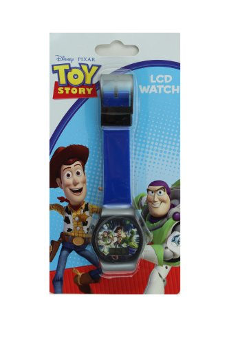 Blue Jelly Band Toy Story Watch with Black Trim - Childrens Digital Watch - Toy Watch Jelly