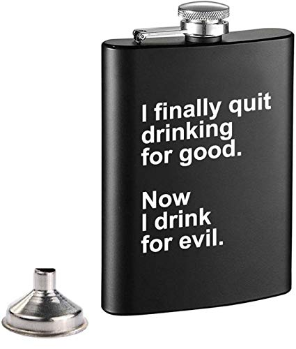 Liquor Flask Matte Funny Leakproof - Premium Stainless Steel Hip Flask 8oz