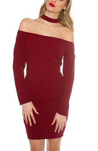 KouCla - Vestido - para mujer burdeos