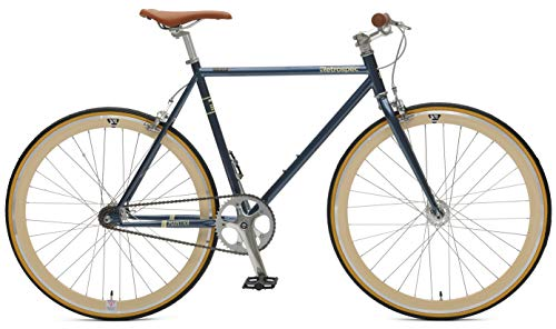 Retrospec Bicycles Mantra V2 Single Speed Fixed Gear Bicycle, Midnight Blue, ()