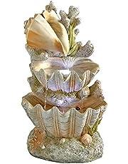 Design Toscano Ocean's Bounty Seashell Coastal Garden Decor Cascading Fountain Water Feature, 51 cm, Polyresin with LED Lights, Full Color