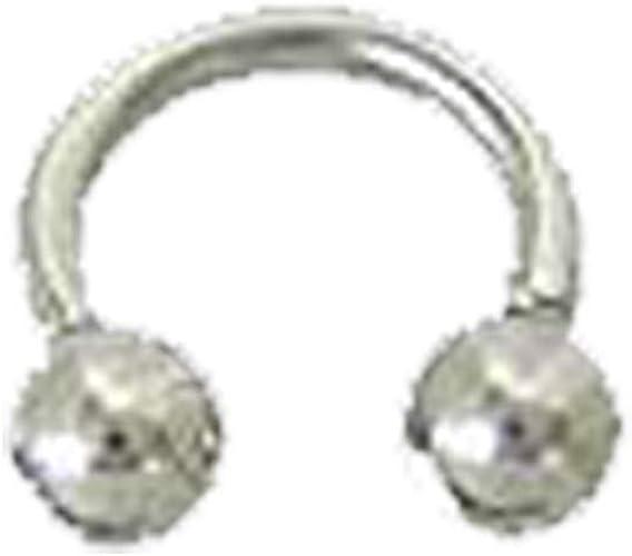 Amazon Com Bodyjewelryonline Horseshoe Ring Surgical Steel Ball Ends 14g 1 4 Inch Jewelry