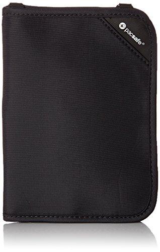 41Riwu06pWL - Pacsafe Rfidsafe V150 Anti-Theft RFID Blocking Compact Passport Wallet, Black