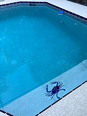 Artistry in Mosaics Crab Ceramic Swimming Pool Mosaic (12\