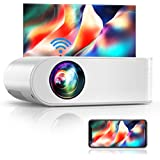 YABER V2 WiFi Mini Projector 6000L [Projector Screen Included] Full HD 1080P and 200 inch Supported  Portable Wireless Mirroring Projector for iOS/Android/TV Stick/PS4/PC Home & Outdoor