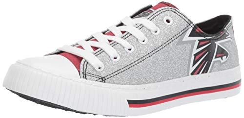 FOCO NFL Atlanta Falcons Womens Glitter Low Top Canvas Shoesglitter Low Top Canvas Shoes, Team Color, 10/XX-Large
