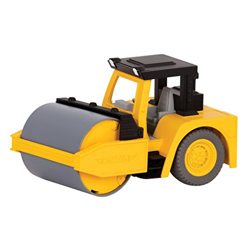 DRIVEN by Battat - Micro Steam Roller - Rugged Toy Steam Roller with Lights and Sounds, for Kids Age 4+