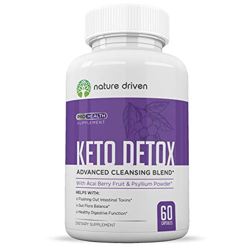 Detox Cleanse Weight Loss – Formulated for Women and Men – Purifies Your Body – Keto Friendly- All-Natural Ingredients – 30 Day Supply – 60 Count – Nature Driven