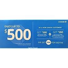 Chase $500 Bonus Coupon $300 Checking/$200 Saving Exp. 05/28/2018 …