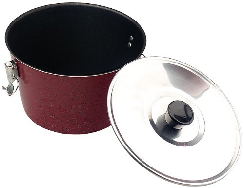 Ibili Venus Charlotte Pudding Mould in Red with Lid, 18cm / 7'', 1.8L / 60 fl oz by Ibili