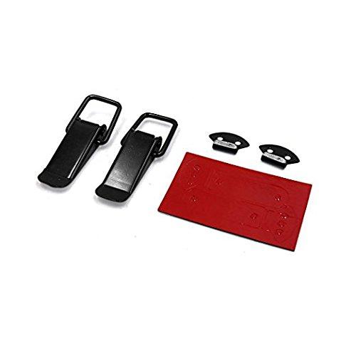 Zantec 2Pcs Hasp Clamp for Car Black Metal Box Toggle Latch Catch Large 100 x 33 x 13mm