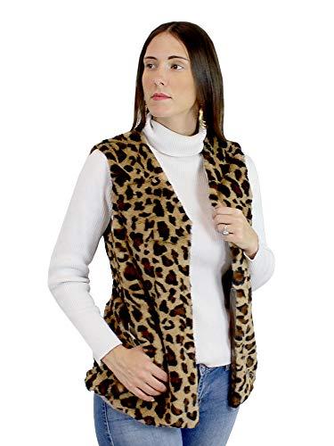 - A&O International Soft Faux Fur Vest Leopard Print (S-M)