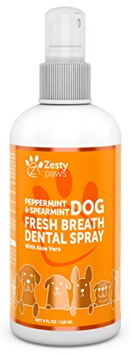 Fresh Breath Dental Spray for Dogs - Advanced Oral Hygiene Freshener with Peppermint Oil & Spearmint Leaf - Aloe Vera & Rosemary Oil to Support Teeth, Gum & Digestive Health + Remove Plaque, 4 FL (Fresh Breath Drops)