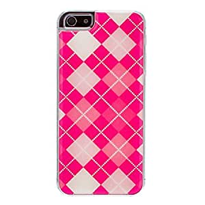Topforcity Reticular Grid Pattern Epoxy Hard phone Case for iphone 5 5S with Screen Protector
