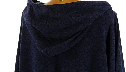 Bleu Bleu Blanca Taille Hiver Capuche asymtrique Charleselie94 Bleu Grande bohme Tunique pA0xz