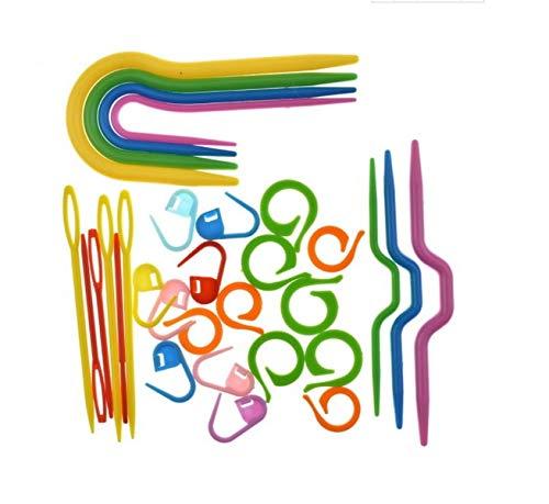 Zamtac DHL 200set ABS Plastic Knit Stitch Knitting Needles Crochet Hook Plastic Markers Needle Clip Craft Knitting Crochet