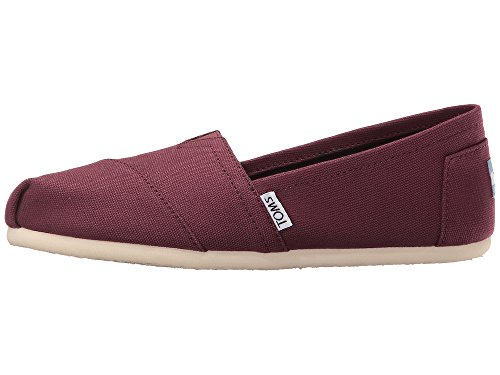 Toms Womens Classic Slip-on Canvas (7.5 B (m) Us, Red, Mogano,)