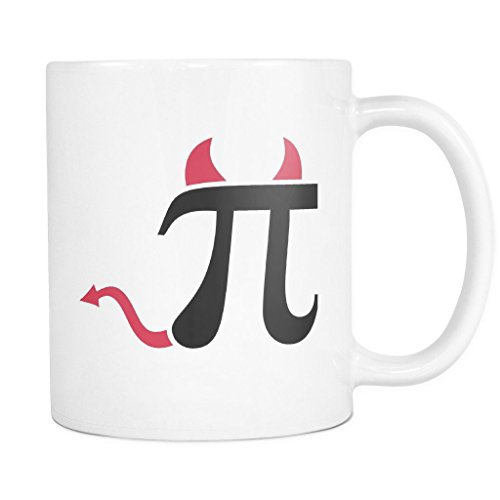 Costume Contest Rules (PI HORNS AND TAILS! PERFECT FUNNY GIFT for PI Math Lover, Teacher, Professor, College Student Attractive Durable White Ceramic Coffee Mug)