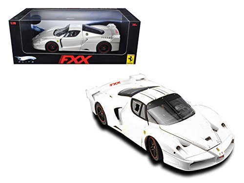 eels Ferrari Enzo FXX Elite Edition White 1/18 Model Car by Hotwheels (Ferrari Enzo Fxx)