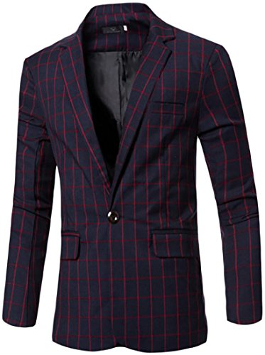 3 Button Patterned Wool Suit - 7