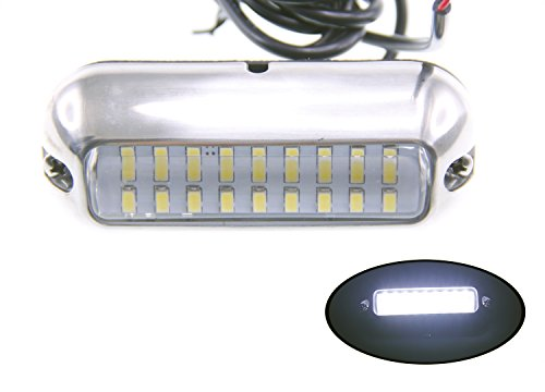 Pactrade Marine Pontoon Boat  27 LED Underwater Light S.S 316, White by Pactrade Marine