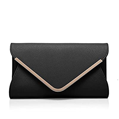 Girly HandBags Faux Suede Clutch Bag Envelope Metallic Frame Plain Design Evening