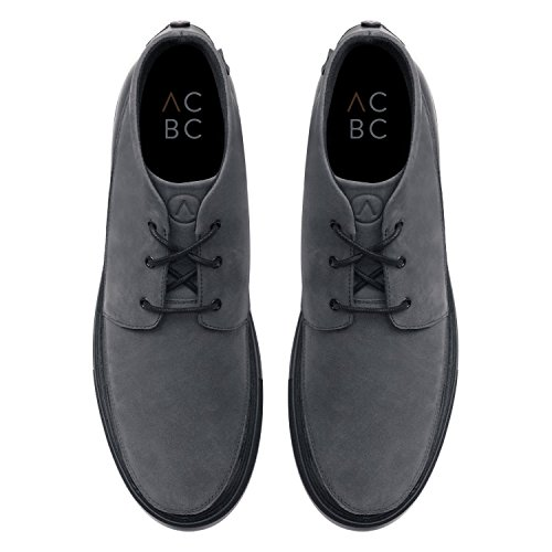 ACBC Scarpa Sneakers Alta con Stringa Chukka Suola Nera e Scarpa Grigio con Zip