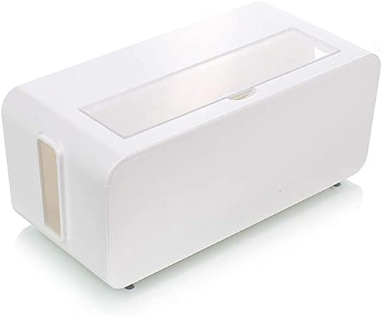 MRZZ Ashcan Enchufe Caja de Almacenamiento, Caja de Empalme Cable de alimentación Toma de Corriente Anti-eléctrica Caja de Almacenamiento de Cable de Toma de Corriente, no tóxico y sin Olor.: Amazon.es: Hogar
