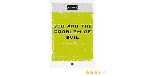 Amazoncom God And The Problem Of Evil  William L  Amazoncom God And The Problem Of Evil  William L Rowe  Books