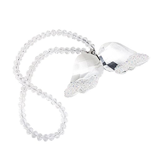 XIANGBAN k9 Crystal Angel Wing Creative Crystal Pendant Gift Christmas Home Ornaments ()