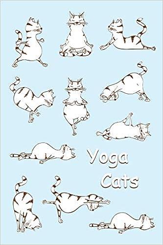 Journal: Yoga Cats (Light Blue) 6x9 - GRAPH JOURNAL ...