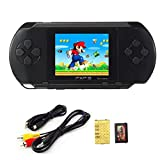 Portable Handheld Game Console - 16 Bit Classic Game Console LCD Game Player (Black)