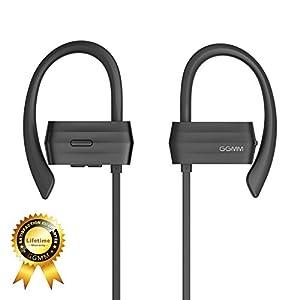 Bluetooth Earbuds GGMM Sweatproof Bluetooth Headphones Wireless Earphones with Microphone Noise Canceling Headphones Earbuds Richer Bass CD Stereo in-Ear Earphones for Running Workout (Black-2)