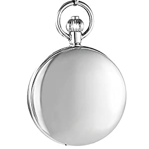 OGLE Vintage Distorting Mirror Chain Noctilucence Fob Self Winding Automatic Skeleton Mechanical Waterproof Pocket Watch