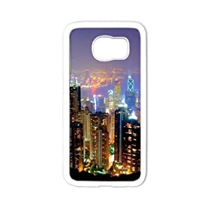 super shining day Best City Skyline Dallas City Samsung Galaxy S6 Back Covers With TPU Material Material