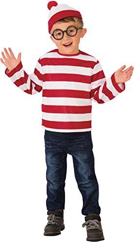 Rubie's Child's Where's Waldo Costume, -